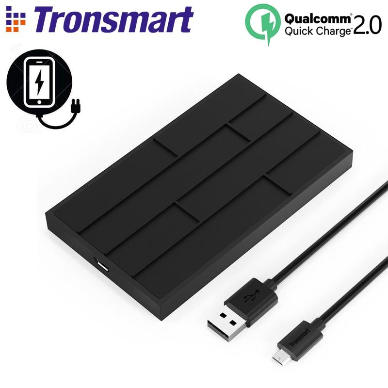 imágenes para Tronsmart chocolate wq10 qualcomm carga rápida 2.0 qi wireless cargador micro usb cargador de teléfono para samsung galaxy s6 s7 edge
