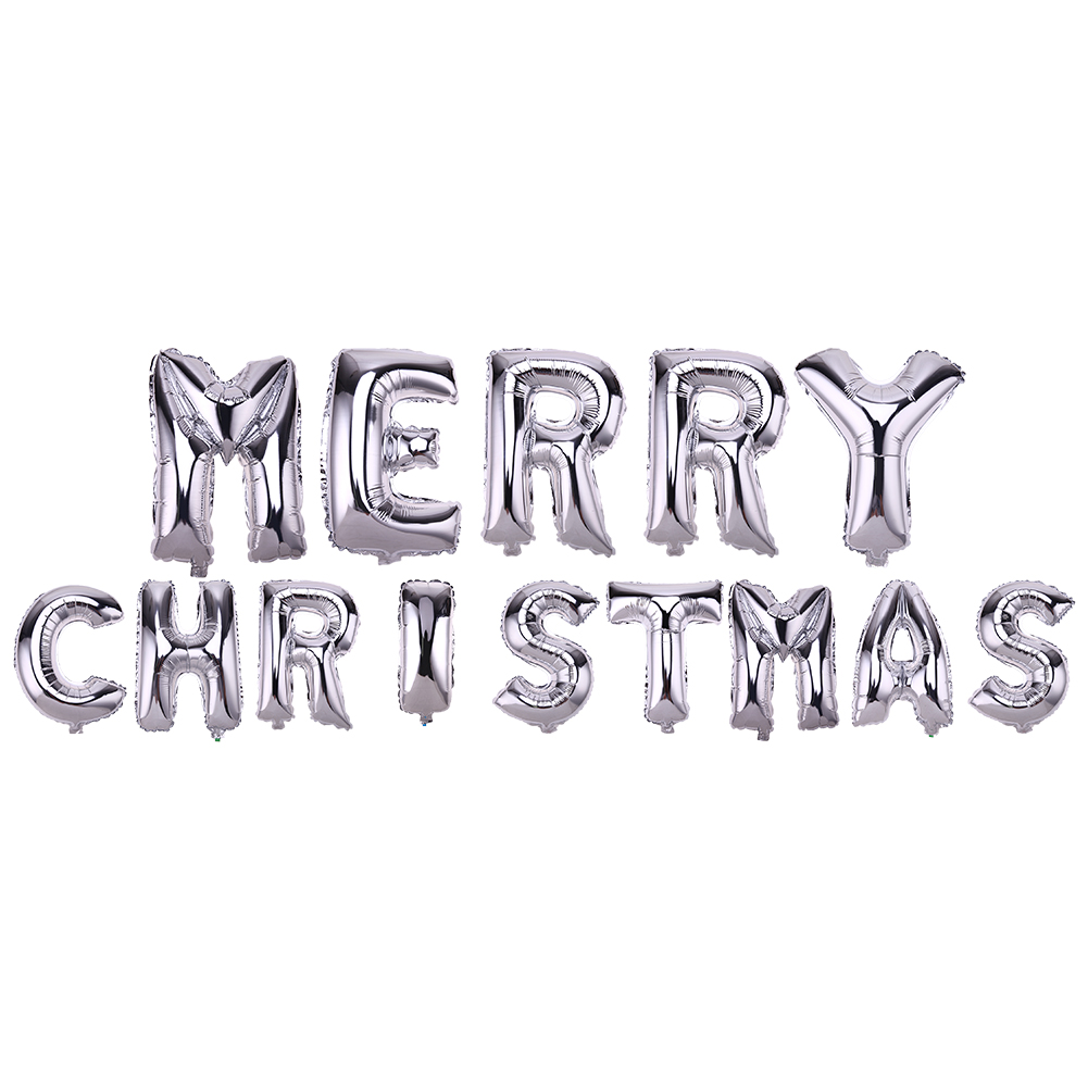 Merry Christmas Letters Foil Balloon Set Party Festival Decoration Golden Silver Blue Pink Colorful Cristmas Decor Balloon Toys