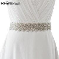 TOPQUEEN S238 Braut Diamant Hochzeit gürtel hochzeit Schärpe frauen Luxus-mode Kristall Perlen Sashs Für Abend-partei