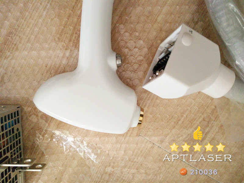 A set of 808nm Diode Laser Hair Removal handle including 10.4 inch screen control power supply handle and water switch