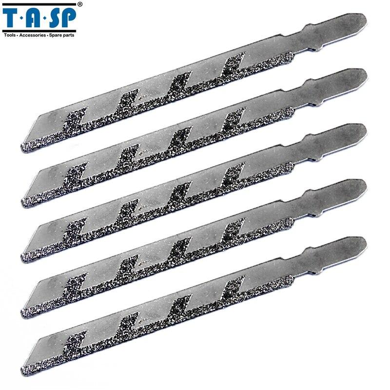 5PC 100mm T-shank Granite Cutting for Diamond Jig Saw Blades 50 Grit Tools