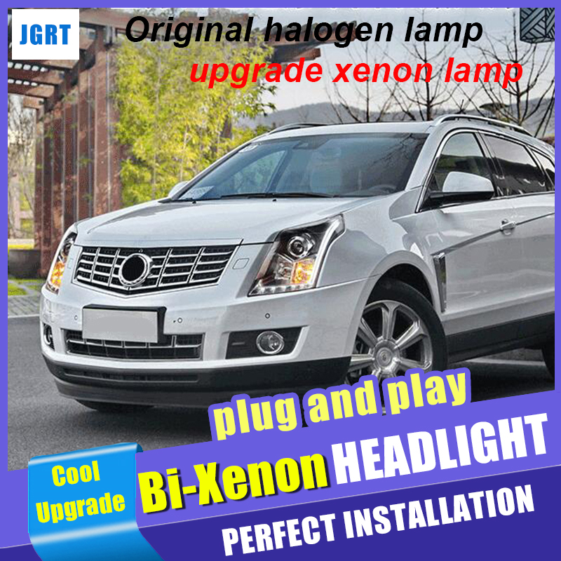 2010 2015 2016 Car Styling For Cadillac SRX Headlight assembly LED DRL Head Lamps Hid kit