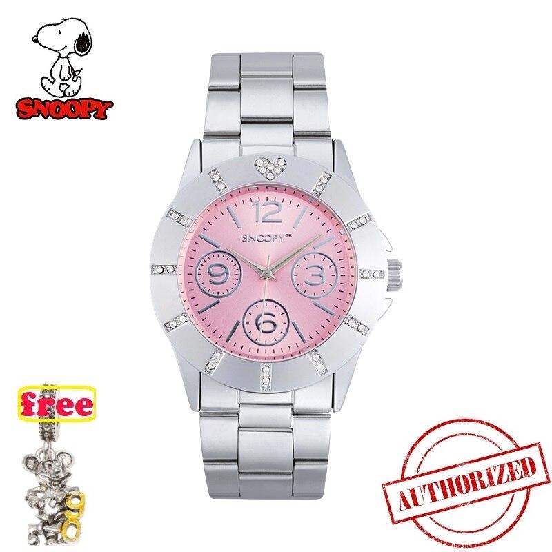 SNOOPY officiel nouvelle mode montres à quartz montre enfants strass robe montres montre enfants femmes montre SNW618 SNW622 nouveau