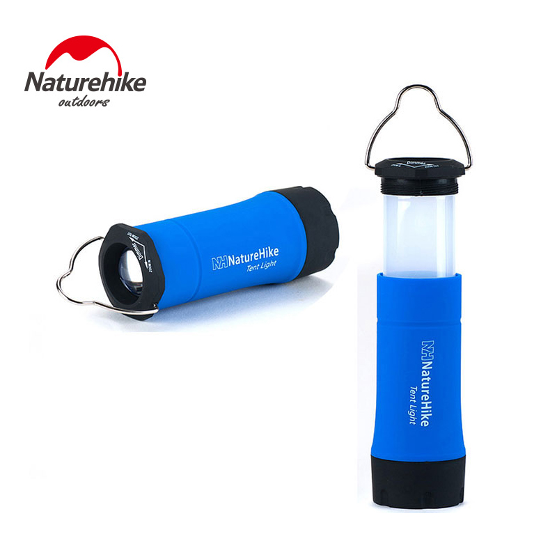 Naturehike Portable Mini CREE R2 LED Zoomable Flashing Camping Lantern Outdoor Tent Light Lamp With 3 Working Modes