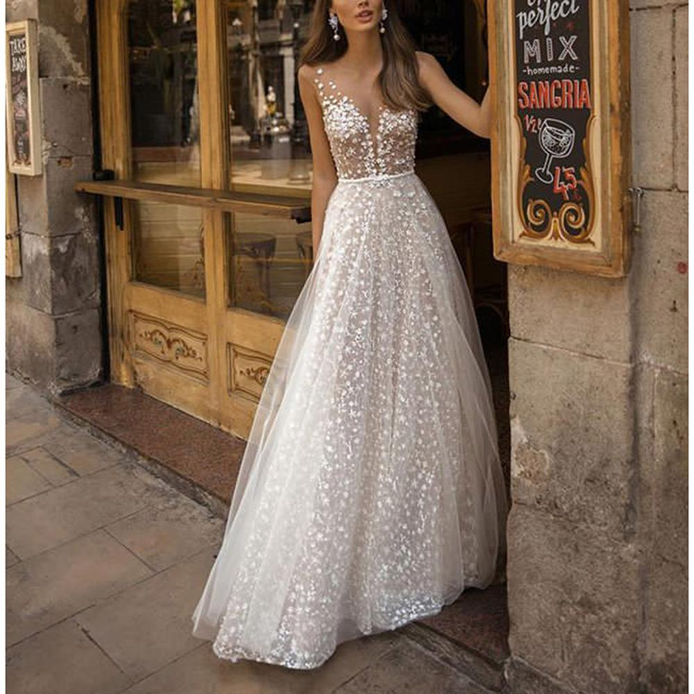 Women Party Dress Sling Cross Wedding V-Neck Elegant Party Hollow Lace Solid White Maxi Dress Robe Longue Femme Ete #2A29