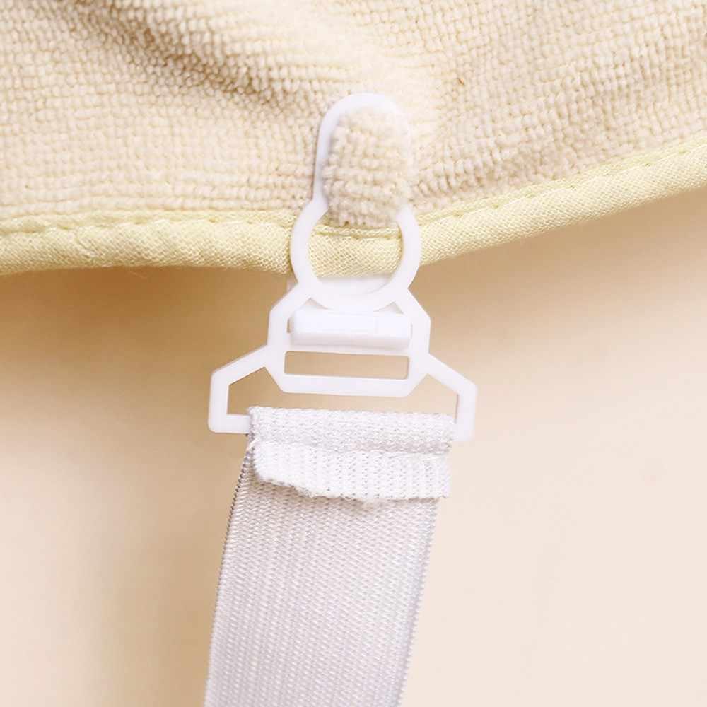 4 pcs สามเหลี่ยมเตียงแผ่นคลิปเตียงปุ่มหัวเข็มขัดยืดหยุ่นยึด Grippers ผู้ถือที่นอนผ้าห่มสายรัด