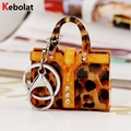 Cute Handbag Luxury Keychain Key Chain & Key Ring Holder Keyring Porte clef Gift Women Souvenirs Bag Pendant Car VND008