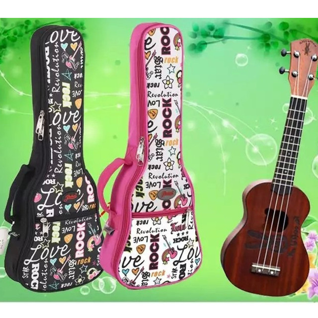 "Protable 21""23 ""26 inches tenor concert soprano ukulele small acoustic guitar bag case package Lanikai Luna Mahalo Ukes gig soft"