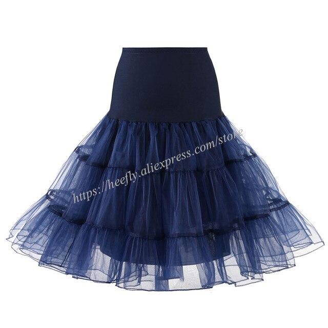 Tulle Skirts Womens Fashion High Waist Pleated Tutu Skirt Retro Vintage Petticoat Crinoline Underskirt Faldas Women Skirt saia 3