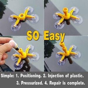 Image 4 - Szyba samochodowa szybka naprawa narzędzie do naprawy przedniej szyby DIY Dent usuń zestaw samochodowy