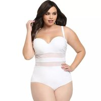 One Piece Swimsuit Large Size white Swimsuit Swimming Suit for Women Plus Size Swimwear Bathing Suit Wire water sport wetsuit