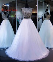 Long Ball Gown Quinceanera Dresses Two Pieces Sweet 16 Years For 15 Year Birthday Party Gowns Vestido De 15 Anos
