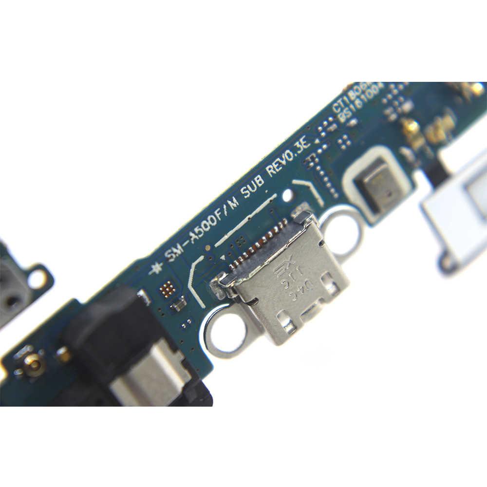 Chargeur Port ruban pièces de rechange pour samsung Galaxy A5 A500 A500F A500M USB câble de charge avec Microphone