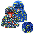 Baby Boy Jackets Softshell Print Cartoon Coat Active Hooded High Quality