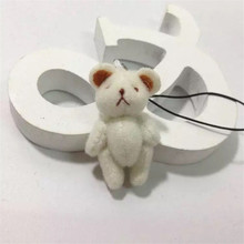 100pieces/lot 4cm mini plush Joint bear pendant decorations