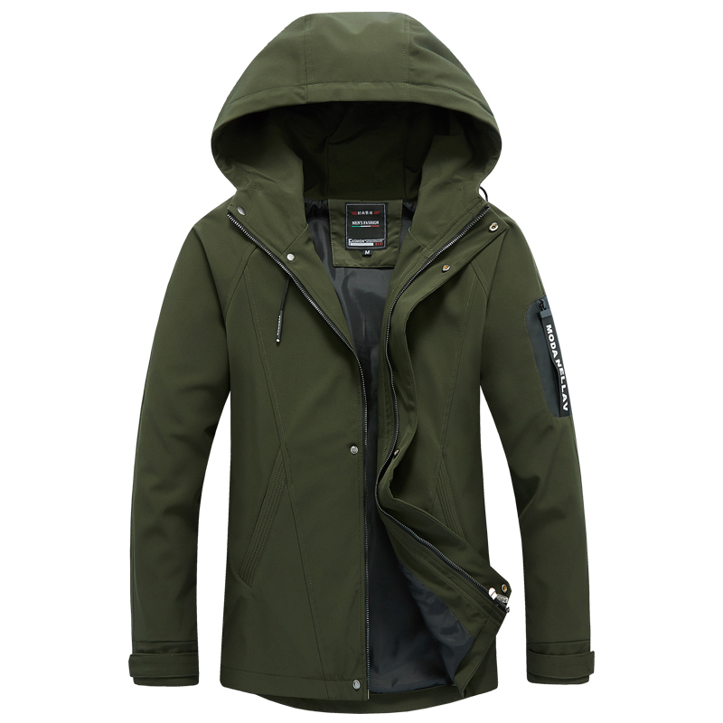 LEFT ROM fashion male Winter high-end warm and casual jacket/men's High quality slim Fit pure color coat Large size S-5XL