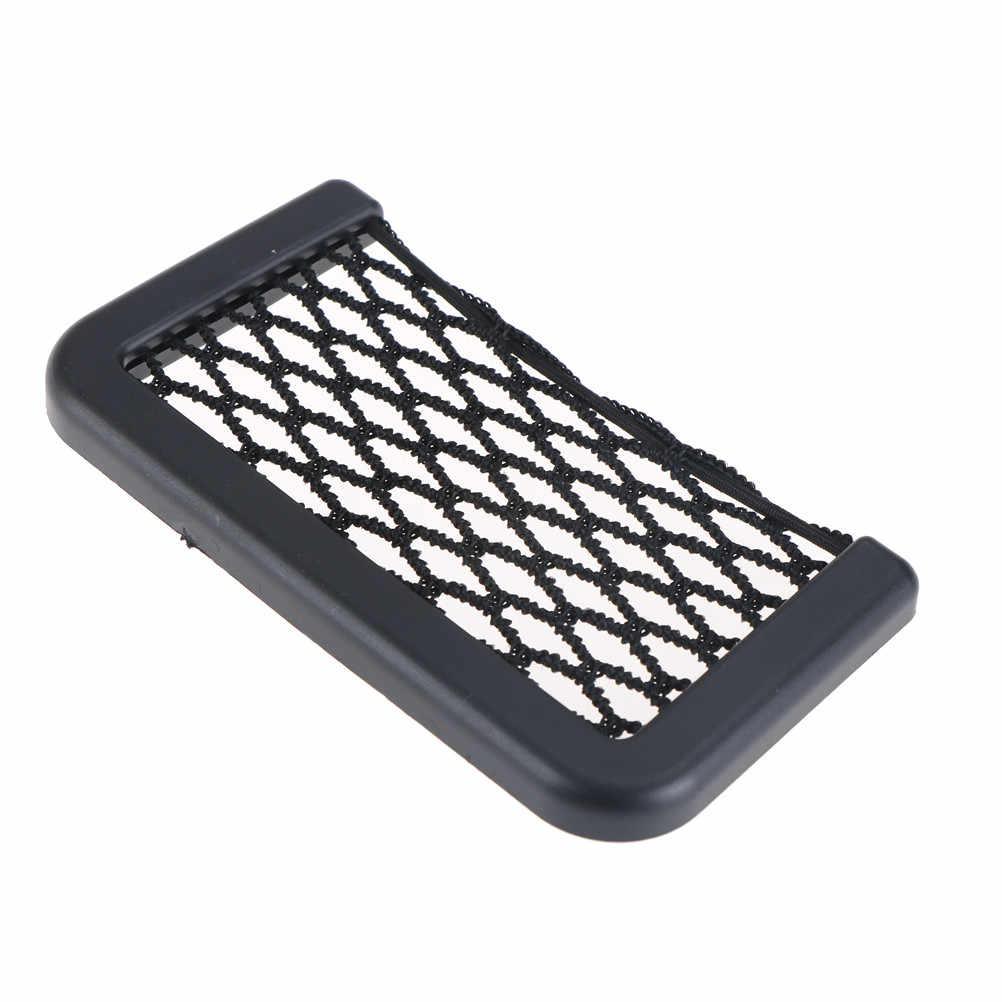 15X8 CM Araba Styling Yeni Marka Araba Depolama Net Otomotiv cep düzenleyici Çanta Cep telefon tutucu Araba Aksesuarları