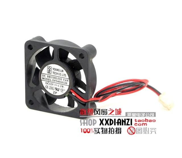 Nova 12 V 1.1 W DFS401012H 4010 4 CM ventilador ultra silencioso