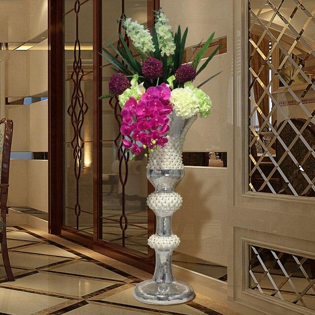 388 95 10 De Reduction Mode Europeenne Creative Grand Vase Ameublement Salon Tv Armoire Decor Etage Hotel Villa Mariage Decoration Dans Vases De