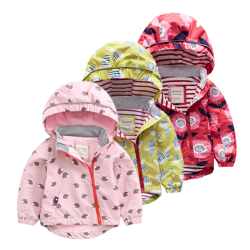 Kids Jackets & Coats for girls Spring Autumn outerwear coat and jackets For baby girl windbreaker Casual Clothing Hoodies Jacket