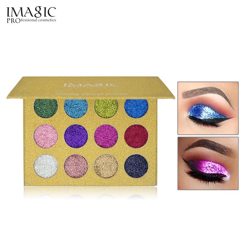 IMAGIC 12 Color Glitter-injektiot Puristetut kiillotukset Yhden - Meikki - Valokuva 2
