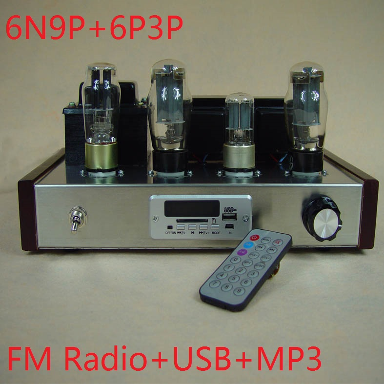 2017 New Nobsound special offer FM radio receiving Input USB+MP3 decoder 6N9P+6P3P tube amplifier DIY Kits 7W+7W Remote control цена