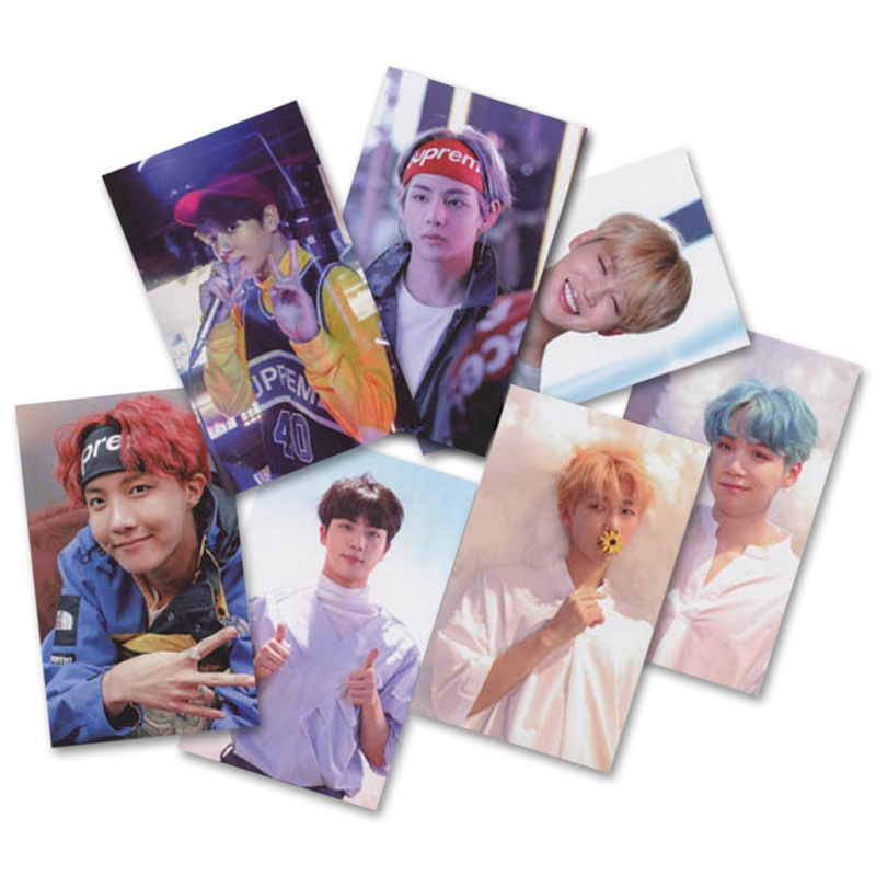 7 Pcs/set New Kpop Bts Bangtan Boys Love Yourself Tear  Album Photo Card Paper Cards Self Made  Card Photocard