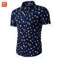 Fashion Men hawaiian shirt Short Sleeve Slim Fit Shirt Men hot air balloon printed beach Designer Shirts camisa social masculina