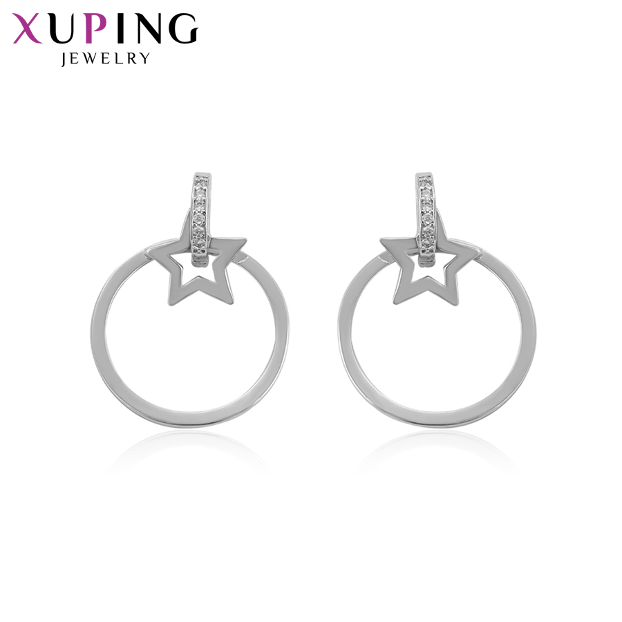 11,11 сделок Xuping Мода Элегантный диких серьги с синтетических CZ для Для женщин Рождество Jewelry подарки S77, 1-94447