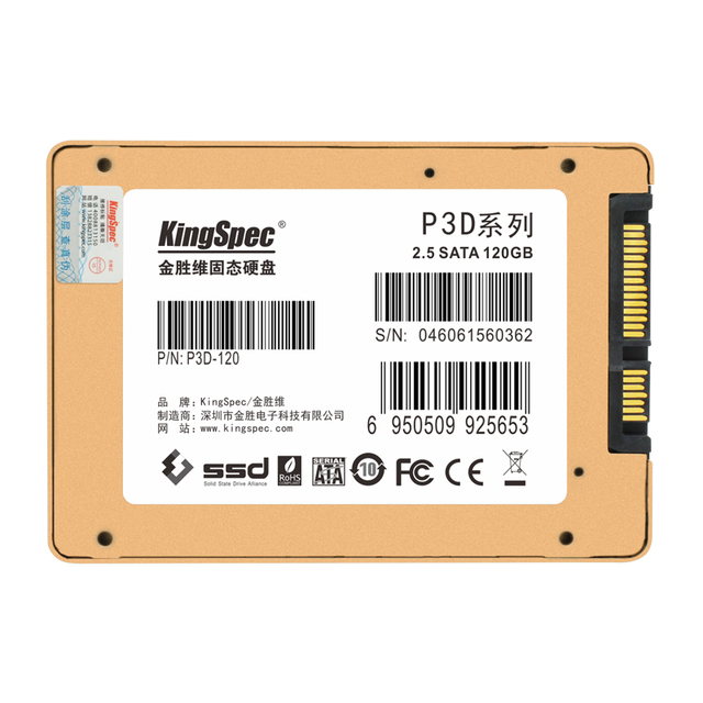 """Kingspec 120 gb 7/9. 5mm interna sataiii 6 gbps 2.5 """"unidad de disco duro de estado sólido ssd mlc flash para el ordenador portátil/de escritorio envío gratis"""