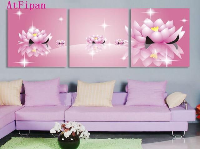 Roze Decoratie Woonkamer : Atfipan canvas schilderij roze bloemen hot cuadros decoratie