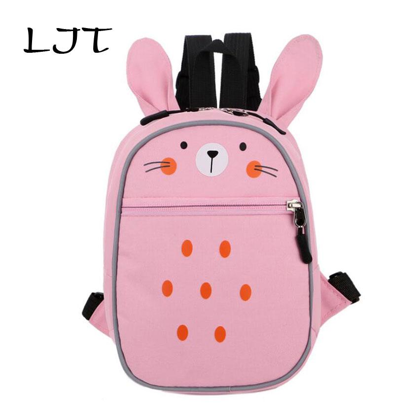 LJT Children Unti-lost Backpack Baby Kids School Bags Kindergarten Cartoon Backpack Little Girl Lovely Satchel Mochilas Rucksack