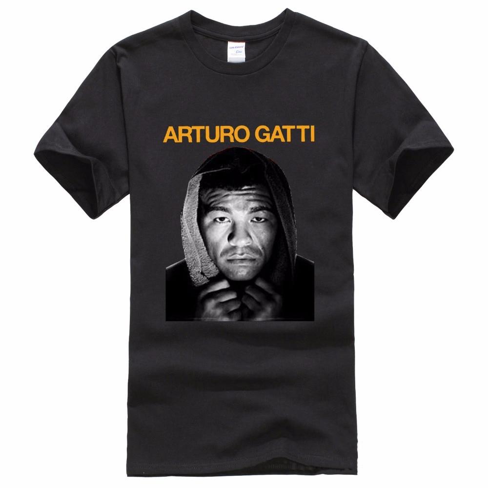 Shirt Shop O-Neck Short Arturo Gatti Boxinger Poae Short Sleeve 100% Cotton Mens Tee