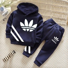 2016 new spring and autumn children sports suit set clothing kids T-shirts + pants 2 pieces sets boys tracksuit clothing Sets