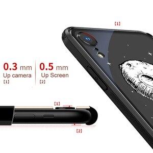 Image 4 - Чехол из закаленного стекла для iPhone X XR 7 8 plus, 6d взрывозащищенный прозрачный стеклянный чехол с рисунком для девушек, стеклянный чехол для iphone xr 7 8 plus