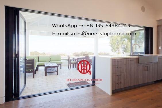 Sound Reduction Aluminum Bi-folding Door,Exterior Accordion Customised,Aluminum Alloy Sheet Patio Door,Folding Door