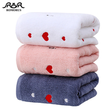 Thick Cotton Heart Embroidered Face Bath Towel for Lovers/Couples Quality Absorbent Bathroom Towels Adults 500gsm Gift
