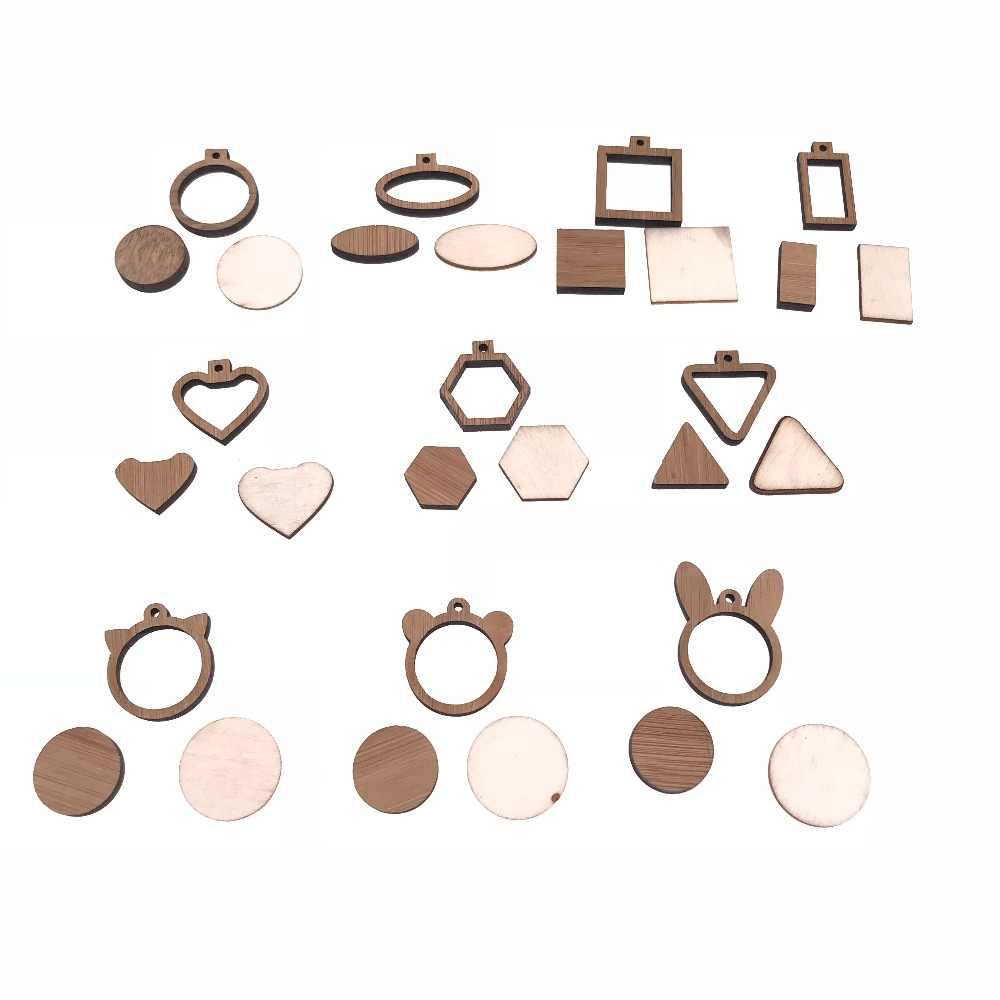 10pcs Differents Size Bamboo Wooden  Mini Embroidery Hoop For Necklaces Or Pendants Jewelry Tiny Hoops Frame Set