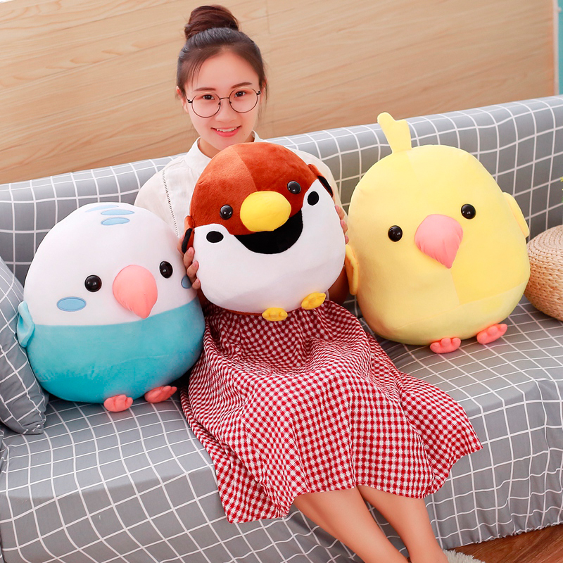 30/40cm Bird Fight Group Stuffed Animal Plush Bird Parrot And Sparrow Simulation Toy Dolls Soft Kawaii Gift For Girl And Kid To Have Both The Quality Of Tenacity And Hardness