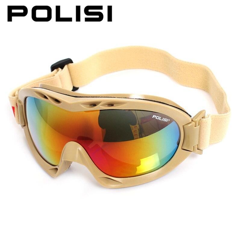 POLISI Для мужчин Для женщин лыжный Очки 100% UVA/UVB защита зимние мотоциклетные Лыжный Спорт очки Анти-туман сноуборде кататься на коньках очки