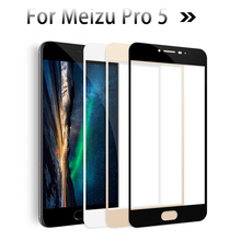 For Meizu Professional 5 Display Protector 9H 3D Tempered glass Movie For Meizu Pro5 Explosion Proof Protecting Movie Guard Case Full Cowl