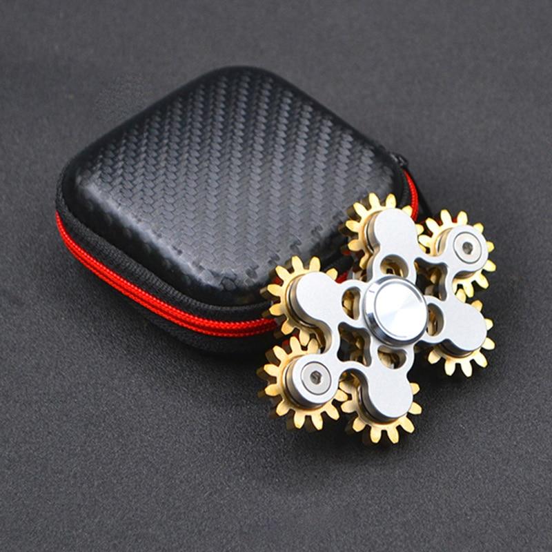 4 Styles New Version Nine Gears Fidget Spinner Toys Brass Aluminum EDC Hand Spinner for Keep