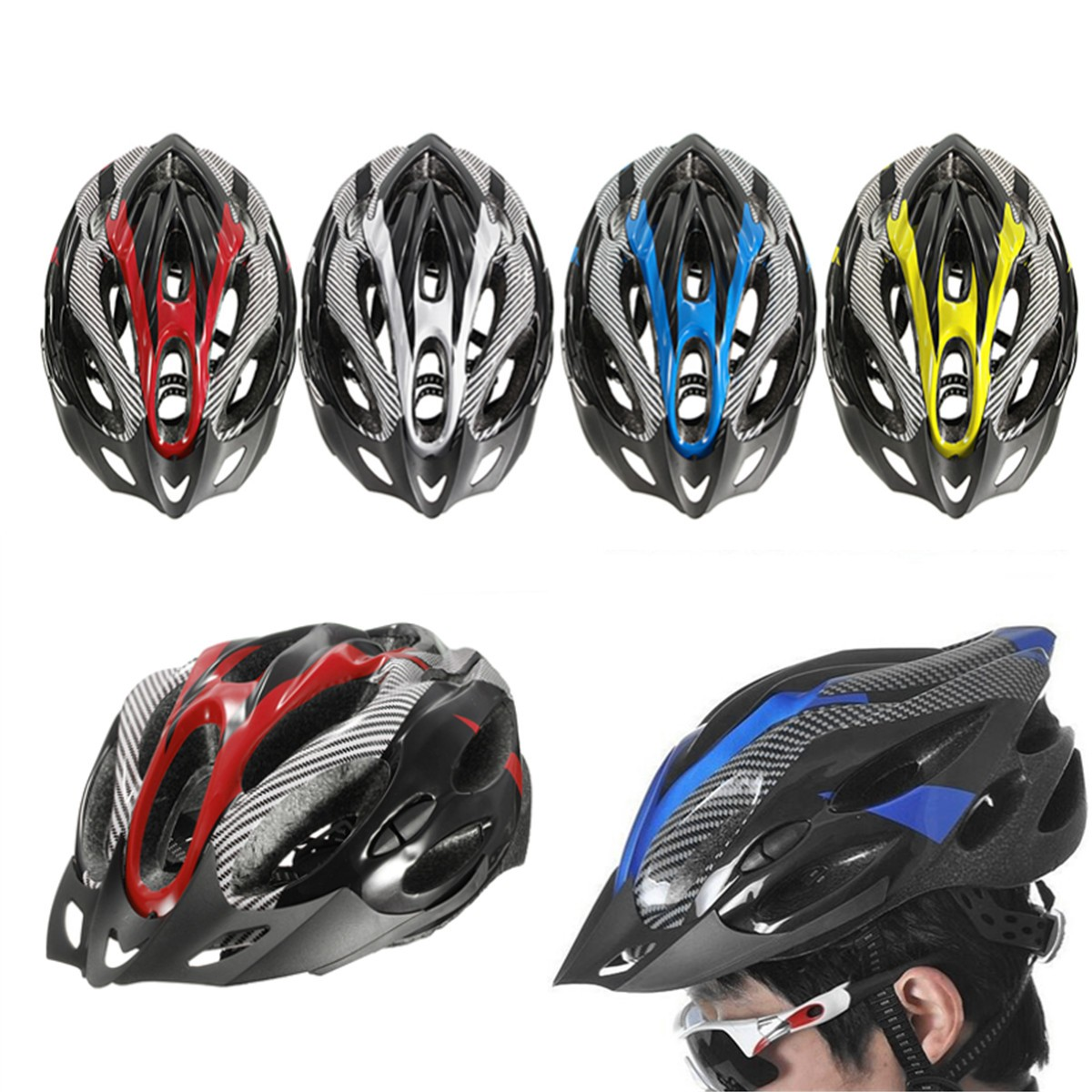 Carbon Mountain Bike Bicycle Cycling MTB Skate Safety Helmet for Men Women Youth New Cycling Road Mountain Bike Helmet promend mountain bike riding helmet integrated safety hat road cycling equipment for men and women