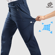 Tectop  Outdoor Men Summer Pants High Elastic Hiking Running Trousers Quick Drying Pant