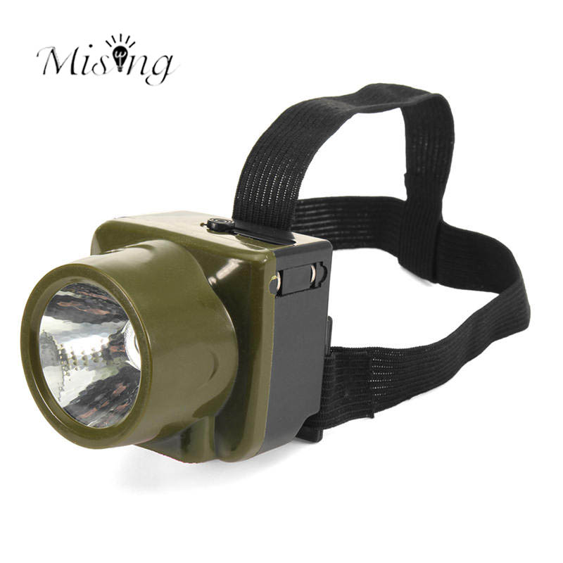 Mising 1W LED Waterproof Headlight Lantern Mini Plastic Emergency Head Lamp for Outdoor Camping Hiking Hunting Fishing Lights