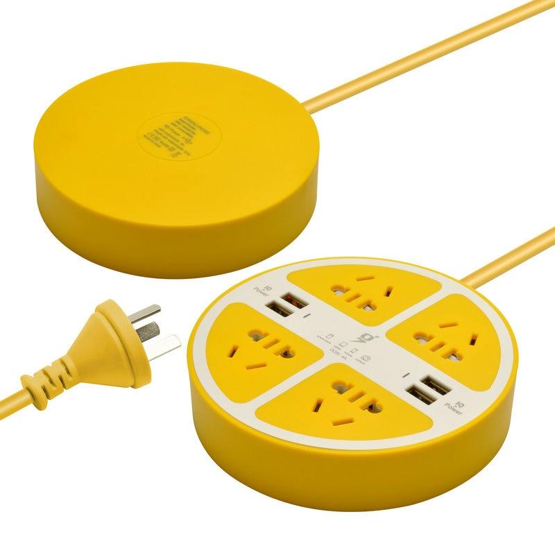 2017 ny citronstikoplader popstik med 4 usb-porte til iPhone Samsung - Mobiltelefon tilbehør og reparation dele