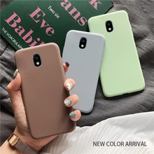 Permen Warna Silikon Di untuk Samsung Galaxy J7 J6 J5 J4 J3 J2 Prime Pro Core 2018 2017 2016 2015 TPU Back Cover Coque(China)