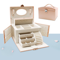 Jewelry Organizer 2019 Princess Ou South Korea Accessories Receive A Of Multilayer Lock Earrings Wedding Gift Jewelry Boxes
