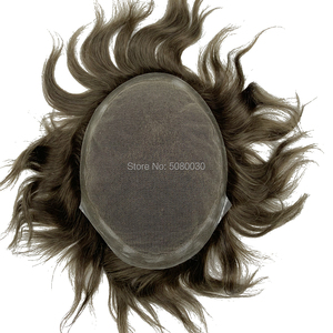 Image 4 - Protez saç erkek saç örgü İnsan saç erkek peruk İsviçre dantel etrafında pu tabanı ücretsiz kargo Fedex DHL