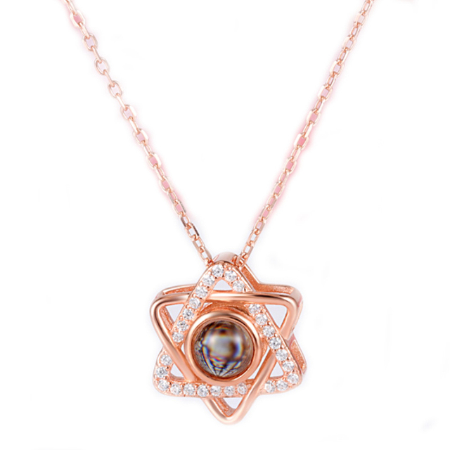 Collier femmes en or Rose  2